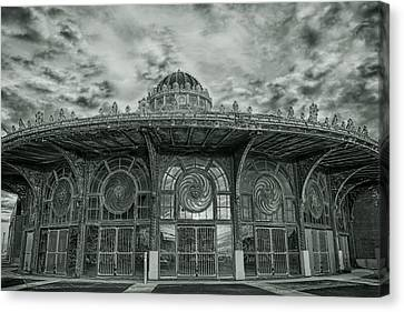 Asbury Park Carousel House Canvas Print by Allison Coffin