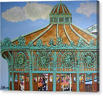 Asbury Park Carousel House Canvas Print by Norma Tolliver