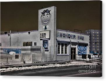 Asbury Park The Wonder Bar In Infared 1 Canvas Print by Paul Ward