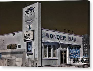 Asbury Park The Wonder Bar In Infared Canvas Print by Paul Ward