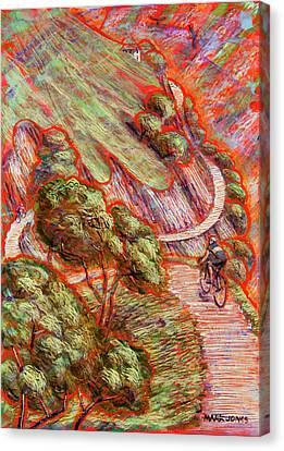 Ascending In Asturias Canvas Print by Mark Howard Jones