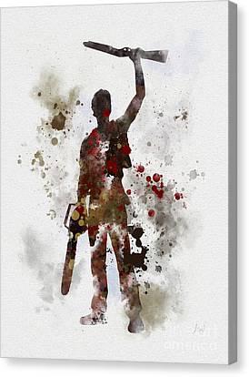 Ash Canvas Print by Rebecca Jenkins