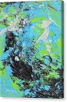 Ashes Upon The Water Canvas Print by Donna Blackhall