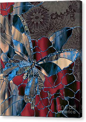 Asian Butterfly Canvas Print by Mindy Sommers
