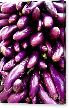 Asian Eggplant Canvas Print by Randall Weidner