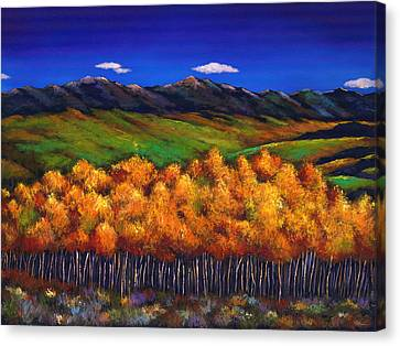 Aspen In The Wind Canvas Print by Johnathan Harris