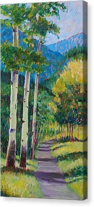 Aspen Trails Canvas Print by Billie Colson
