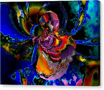 Assault By The Blues Canvas Print by Claude McCoy