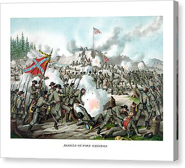 Assault On Fort Sanders Canvas Print by War Is Hell Store