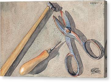 Assorted Tools Canvas Print by Ken Powers