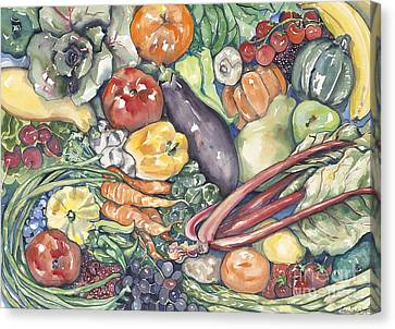 Assorted Vegetables Canvas Print by Annie Laurie