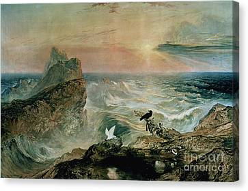 Assuaging Of The Waters Canvas Print by John Martin