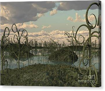 Asteroxylon Was A Primitive Plant That Canvas Print by Walter Myers