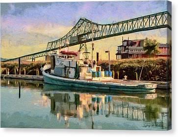 Astoria Waterfront, Scene 1 Canvas Print by Jeff Kolker