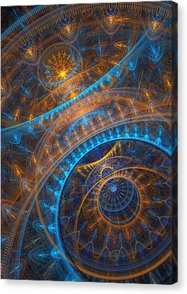 Astronomical Clock Canvas Print by Martin Capek