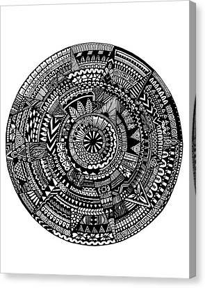 Asymmetry Canvas Print by Elizabeth Davis