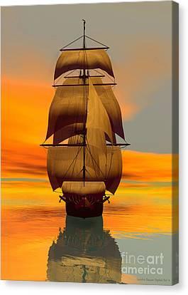 At Full Sail Canvas Print by Sandra Bauser Digital Art