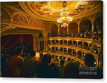 At The Budapest Opera House Canvas Print by Madeline Ellis