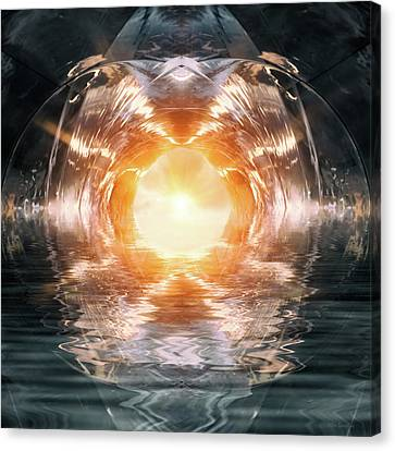 At The End Of The Tunnel Canvas Print by Wim Lanclus