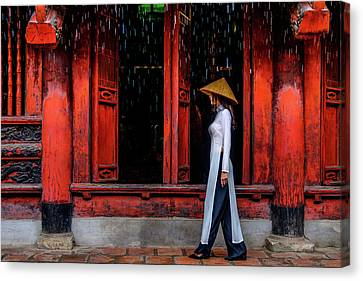At The Temple Canvas Print by Okan YILMAZ