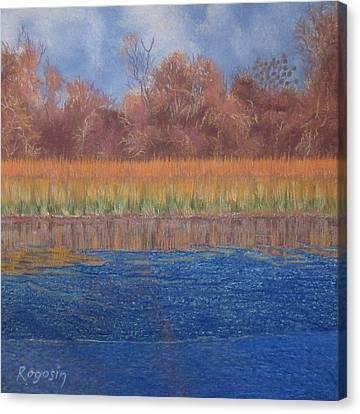 At The Water's Edge Canvas Print by Harvey Rogosin