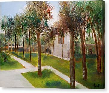 Atalaya Huntington Beach Sc Canvas Print by Phil Burton