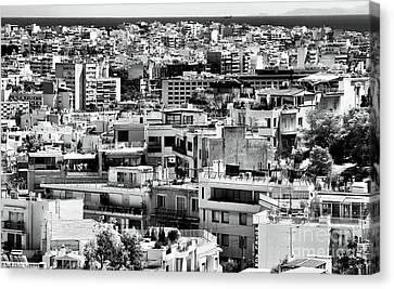 Athens Cityscape I Canvas Print by John Rizzuto