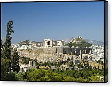 Athens Canvas Print by Julia Bridget Hayes