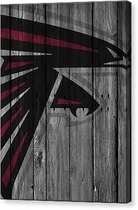 Atlanta Falcons Wood Fence Canvas Print by Joe Hamilton