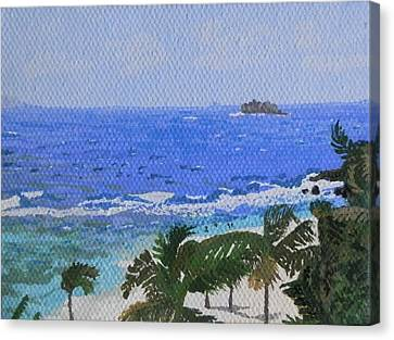 Atlantic Side Of St. Maarten Canvas Print by Margaret Brooks