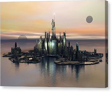 Atlantis End Of Day Canvas Print by Joseph Soiza