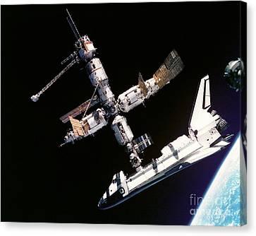Atlantis Space Shuttle Canvas Print by Celestial Images