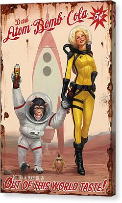 Atom Bomb Cola - Out Of This World Taste Canvas Print by Steve Goad