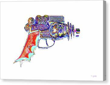 Atomic Ray Gun Digital Pop Art Canvas Print by Tony Grider