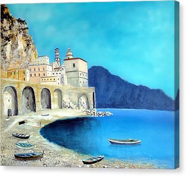 Atrani Italy Canvas Print by Larry Cirigliano