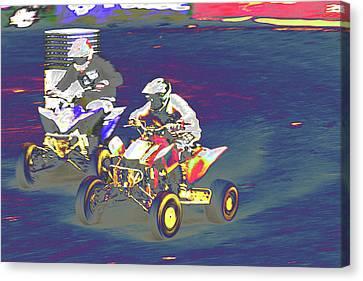 Atv Racing Canvas Print by Karol Livote