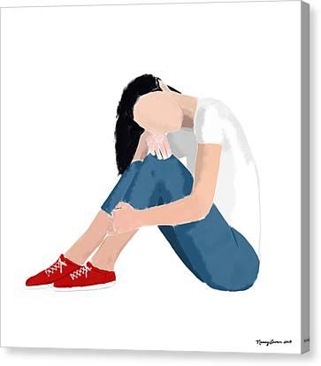 Aubrey Canvas Print by Nancy Levan