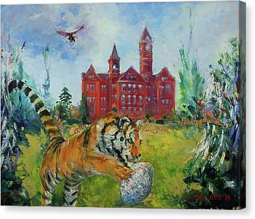 Auburn Football Winning Year Canvas Print by Ann Bailey