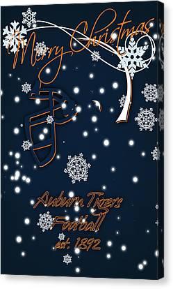 Auburn Tigers Christmas Card Canvas Print by Joe Hamilton