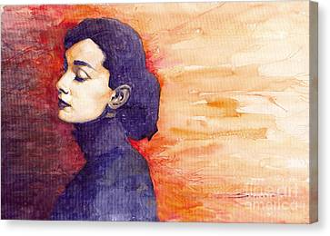 Audrey Hepburn 1 Canvas Print by Yuriy  Shevchuk