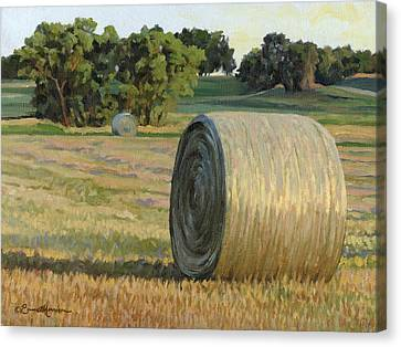 August Bales Canvas Print by Bruce Morrison