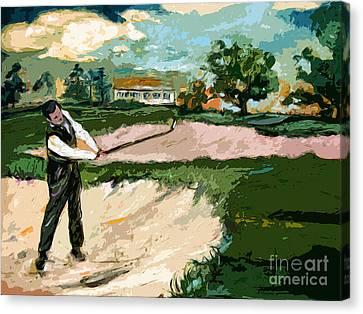 Augusta National Bobby Jones Vintage Golf Canvas Print by Ginette Callaway