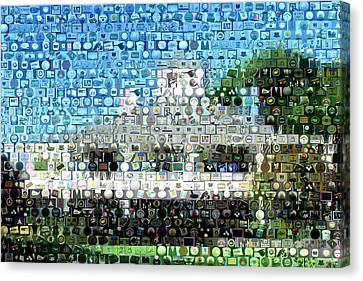 Augusta National Clubhouse Mosaic Canvas Print by Paul Van Scott