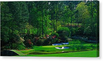 Augusta National Gc - 12th Hole - Golden Bell  Canvas Print by Michael Graham