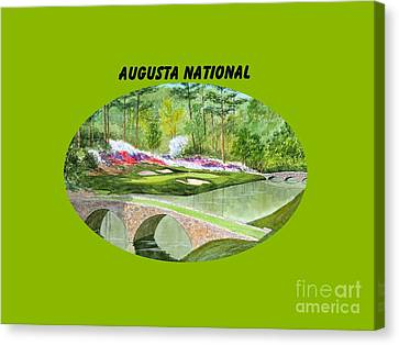 Augusta National Golf Course With Banner Canvas Print by Bill Holkham