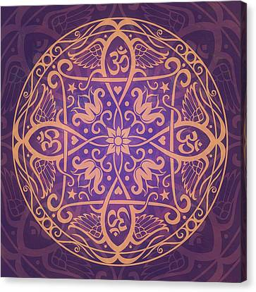 Aum Awakening Mandala Canvas Print by Cristina McAllister