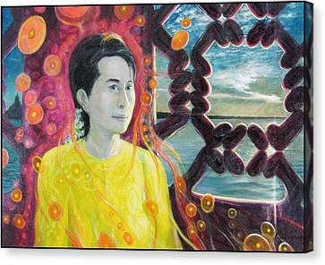 Aung San Suu Kyi Canvas Print by A Coudry