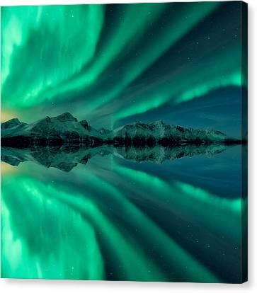 Aurora Square 2 Canvas Print by Tor-Ivar Naess