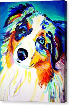 Aussie - Moonie Canvas Print by Alicia VanNoy Call