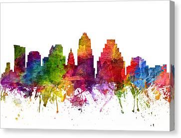 Austin Cityscape 06 Canvas Print by Aged Pixel